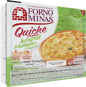Quiche Integral Multigrãos com Vegetais
