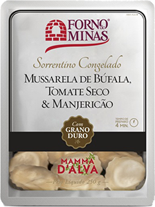 Sorrentino Mussarela de Búfala, Tomate Seco & Manjericão